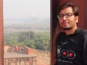 Ah Well Tejo Mahalaya and me captured from Agra Fort